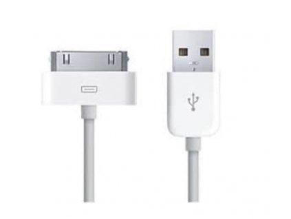 Synchronizační a nabíjecí USB kabel 30pin pro Apple 4 / 4S / 3GS / 3G  - 1m - bílý