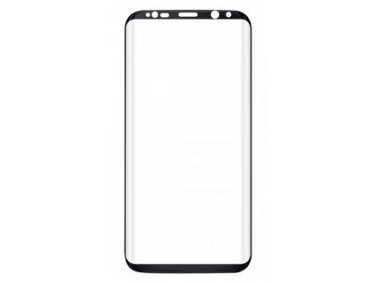Tvrzené sklo pro Samsung S8 Black - side glue