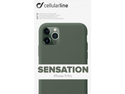 Kryt na mobil CellularLine SENSATION na Apple iPhone 11 Pro zelený