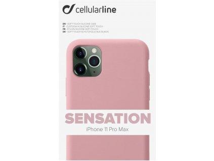 Kryt na mobil CellularLine SENSATION na Apple iPhone 11 Pro Max růžový