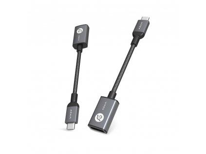 Adam Elements CASA F13 Black – redukce USB-C na USB-A