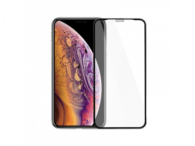 Hoco Mirror Full Screen Tempered Glass for iPhone XS Max (Black)