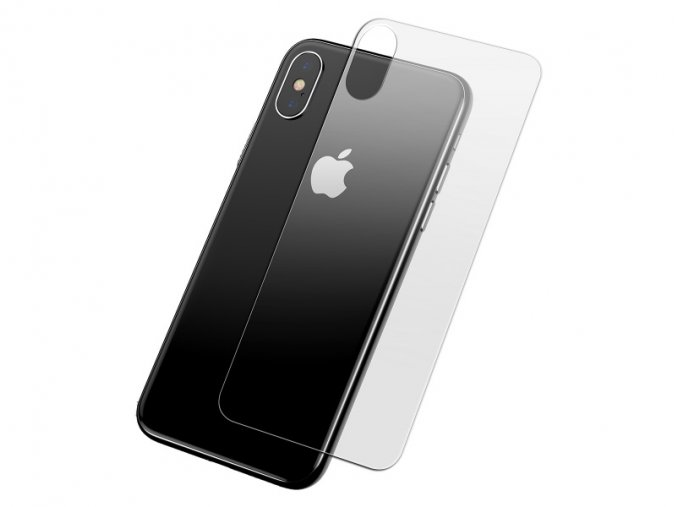Baseus 0.3mm Full-Glass Back Tempered Glass Film for iPhone XS Transparent