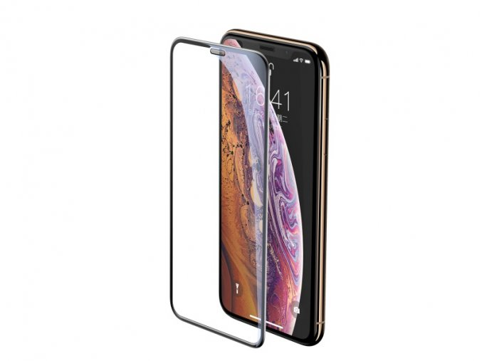Baseus Full-Screen Curved Tempered Glass for iPhone XS Max Black