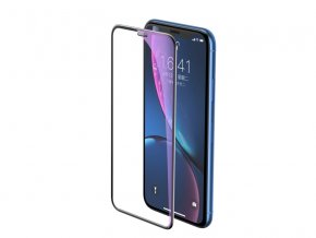 Baseus Full-Screen Curved Anti-Blue Light Tempered Glass for iPhone XR / 11 Black