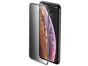 Baseus Full-Screen Curved Privacy Tempered Glass for iPhone X / XS Black