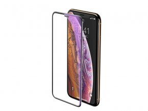 Baseus Full-Screen Curved Anti-Blue Light Tempered Glass for iPhone XS Max Black