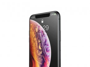 Baseus 0.3mm Full-Screen Curved Frosted Tempered Glass Protector for iPhone XS Max Black