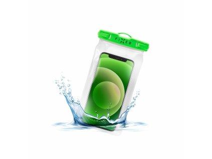 Voděodolné plovoucí pouzdro na mobil FIXED Float s kvalitním uzamykacím systémem a certitikací IPX8, limetková
