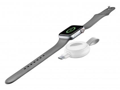 Cestovní nabíječka Cellularline Power Pill pro Apple Watch, s USB adaptérem, bílá