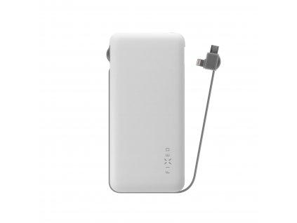 Powerbanka FIXED Zen 10 000 s kabelem Lightning/USB-C, 10 000 mAh, bílá