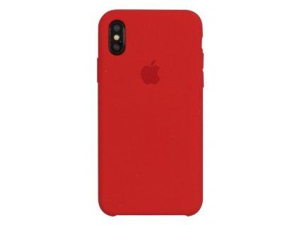 Apple silikonový kryt pro Apple iPhone X/XS, Červený (Red)