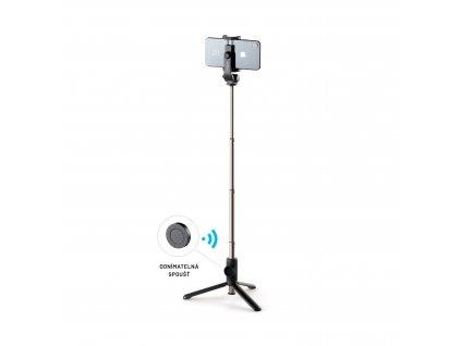 Selfie stick s tripodem FIXED Snap Lite a bezdrátovou spouští, černý