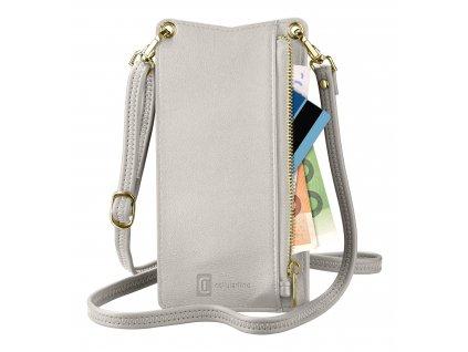 Pouzdro na krk Cellularline Mini Bag pro mobilní telefony, bílý