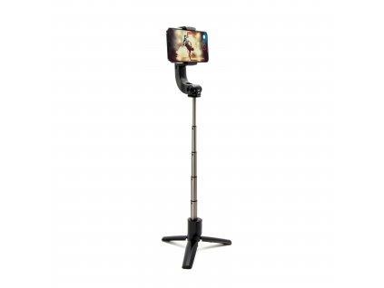 Selfie tripod se stabilizátorem a dálkovou spouští FIXED Snap Action, černý