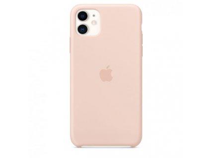 Apple silikonový kryt pro Apple iPhone 11 Pro Max, Pískově růžový