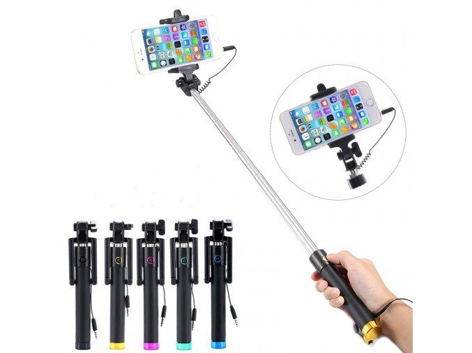Istick teleskopická selfie tyč se spouští na rukojeti 80 cm