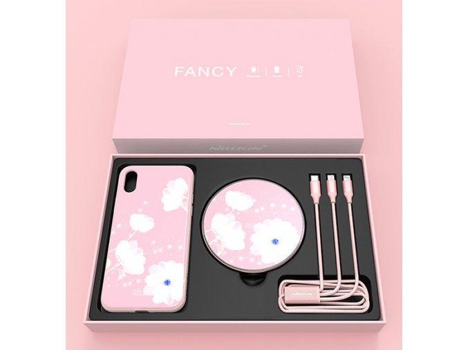Nillkin fancy set pro Apple iPhone X/XS, růžová