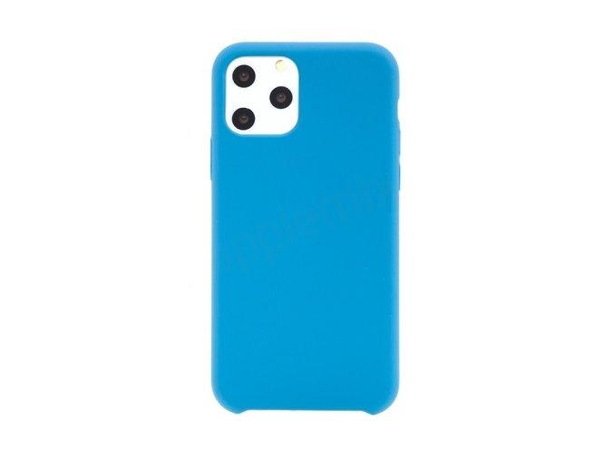 kryt pro apple iphone 11 pro gumovy prijemny na dotek modry