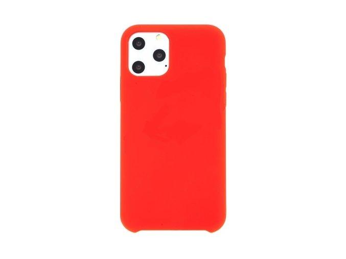 kryt pro apple iphone xi gumovy prijemny na dotek cerveny