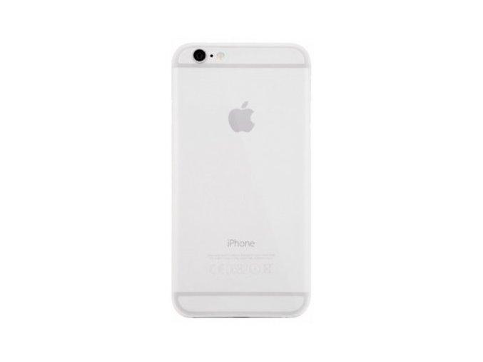 Snowy poloprůhledný kryt s výkrojem na logo pro Apple iPhone 6/6S