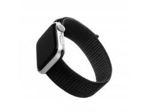 Nylonový řemínek FIXED Nylon Strap pro Apple Watch 44mm/ Watch 42mm, černý