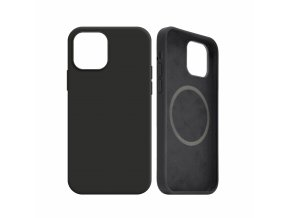 Zadní kryt FIXED MagFlow s podporou Magsafe pro Apple iPhone 12 mini, černý