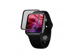 Ochranné tvrzené sklo FIXED 3D Full-Cover pro Apple Watch 42mm s aplikátorem, s lepením přes celý displej, černé