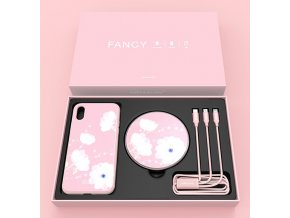 Nillkin fancy set pro Apple iPhone X/XS, růžová