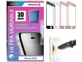 Sklo Swissten ultra durable 3D full glue glass Apple iPhone 6/6S