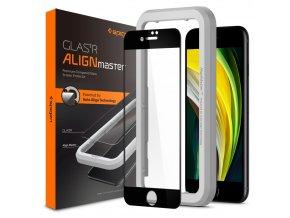 szklo hartowane spigen alm glass fc iphone 78se 2020 black