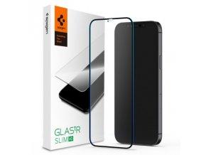 tempered glass spigen glass fc iphone 12 mini black