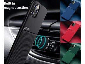 Gumový magnetický kryt IQS Carmag pro Apple iPhone 11 Pro