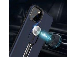 Odolný kryt Wonlife k magnetickému držáku pro Apple iPhone 12/12 Pro - černý