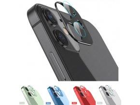 Sapphire lens kovový rámeček s tvrzenými skly pro ochranu fotoaparátu Apple iPhone 12