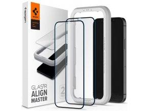 Spigen tvrzené sklo ALM Glass FC 2-pack pro iPhone 12 Pro Max