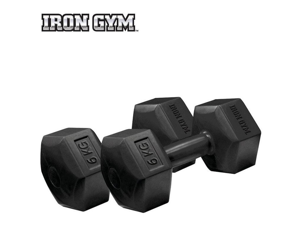 IRON GYM Fixed Hex Dumbbells ITEM 6kg.png
