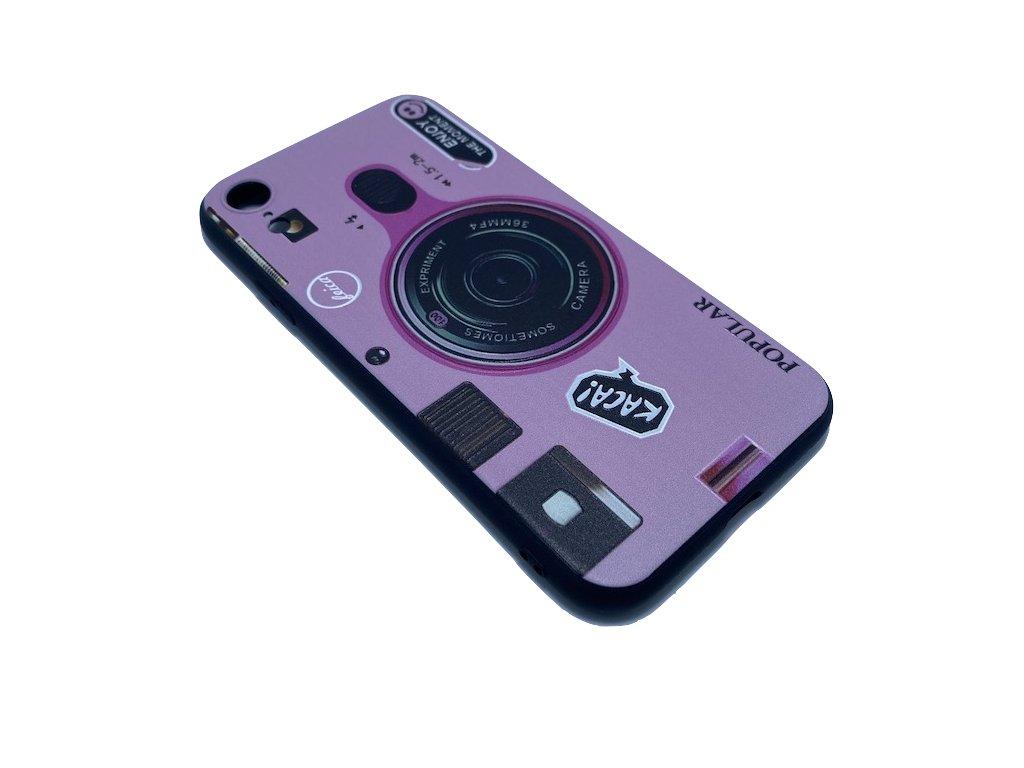 Obal iPhone XR fotoaparát PINK
