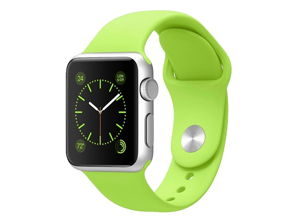 apple watch band silicone sport green