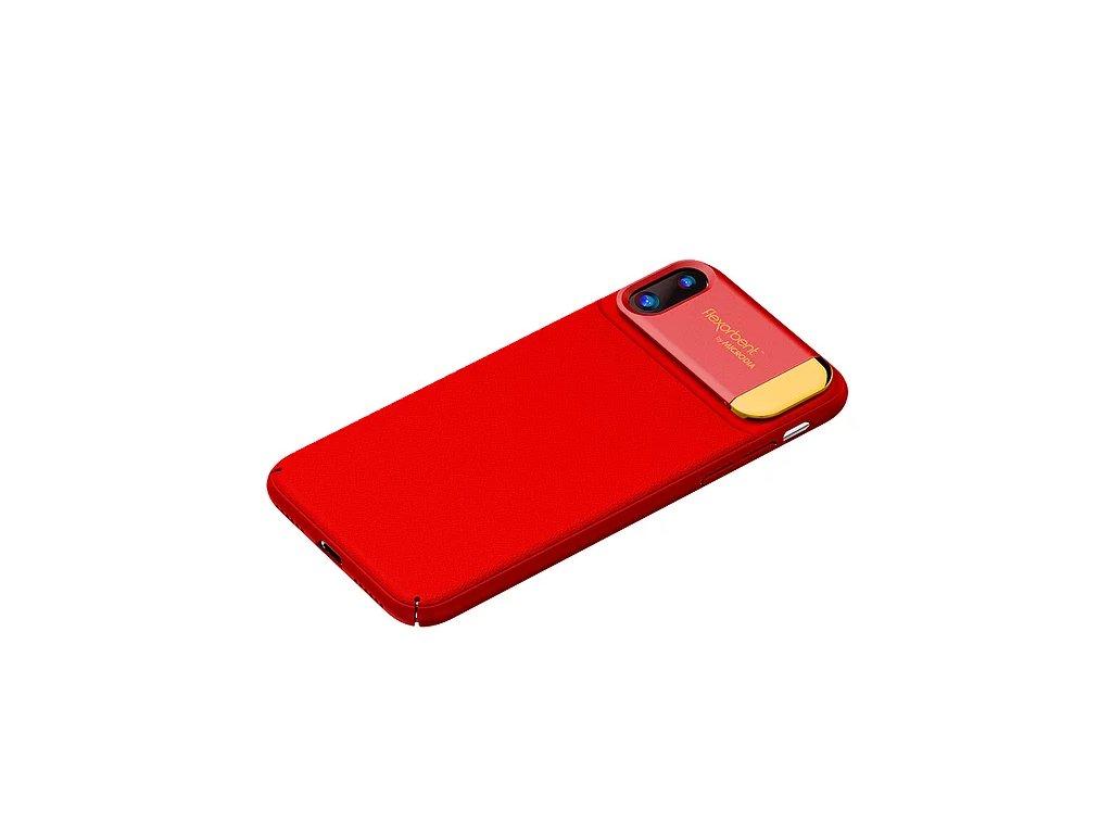 Nárazuvzdroný kryt - Microdia - VOGUE - pro iPhone X / XS - Červený