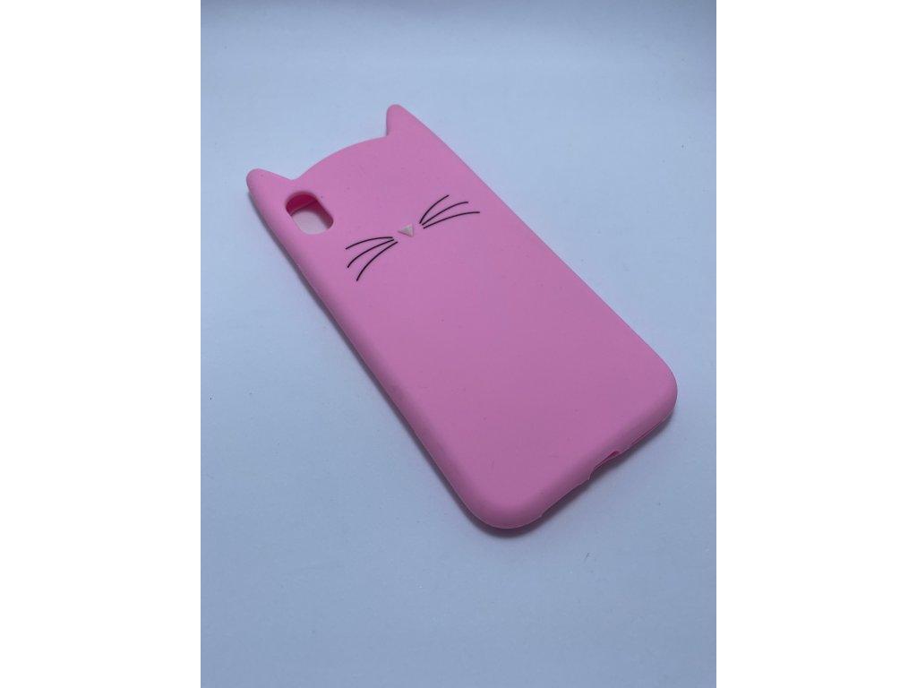 Ochranný kryt - Cat - pro iPhone Xr - Růžový