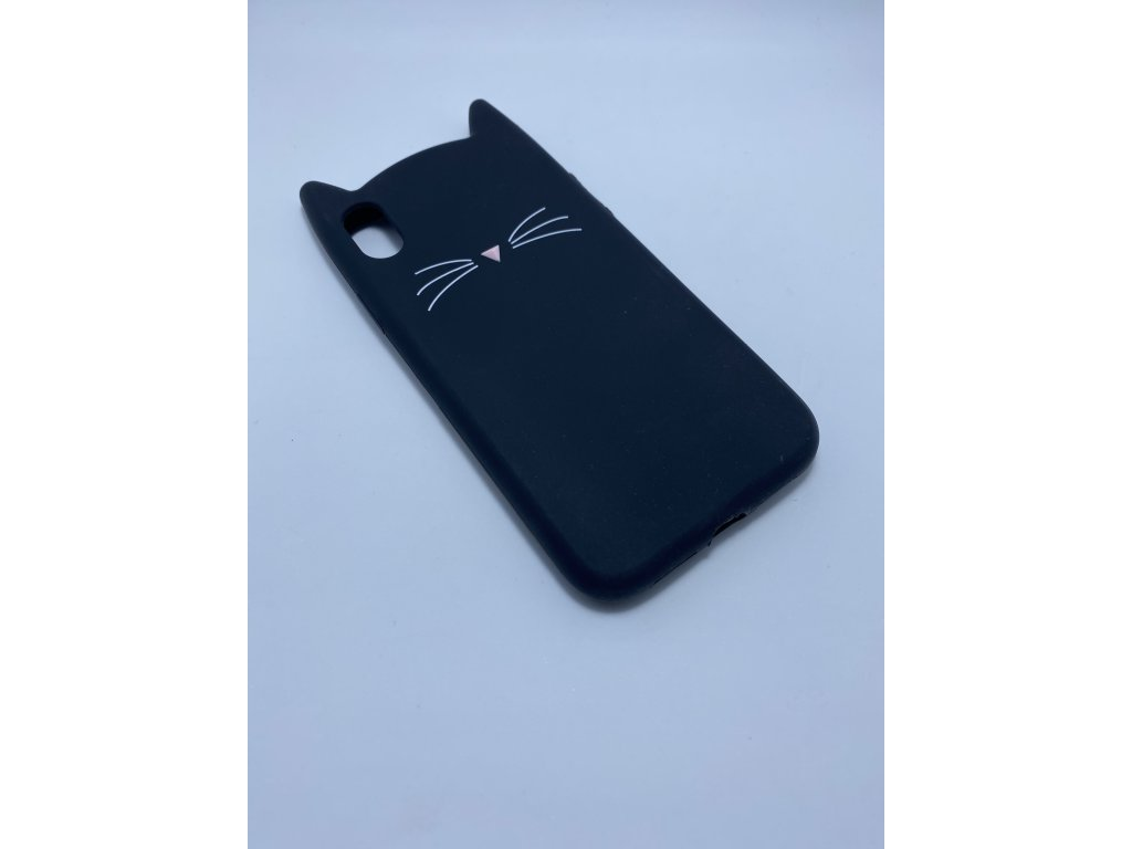 Ochranný kryt - Cat - pro iPhone X/XS - Černý