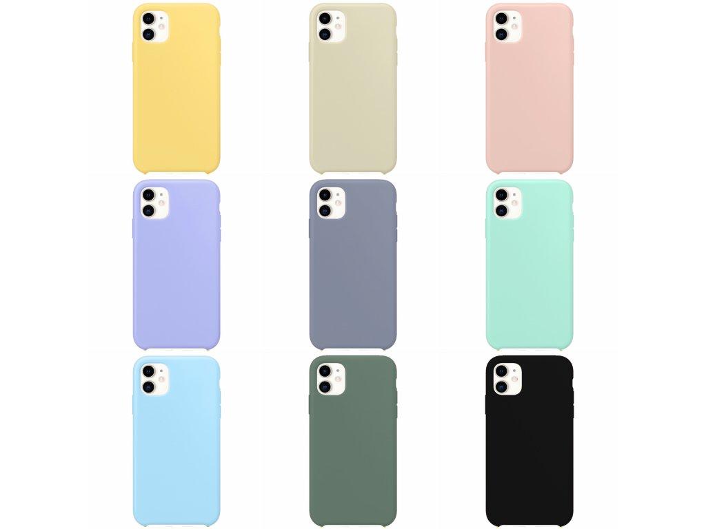 Silikonový kryt - iPhone 12 mini - různé barvy