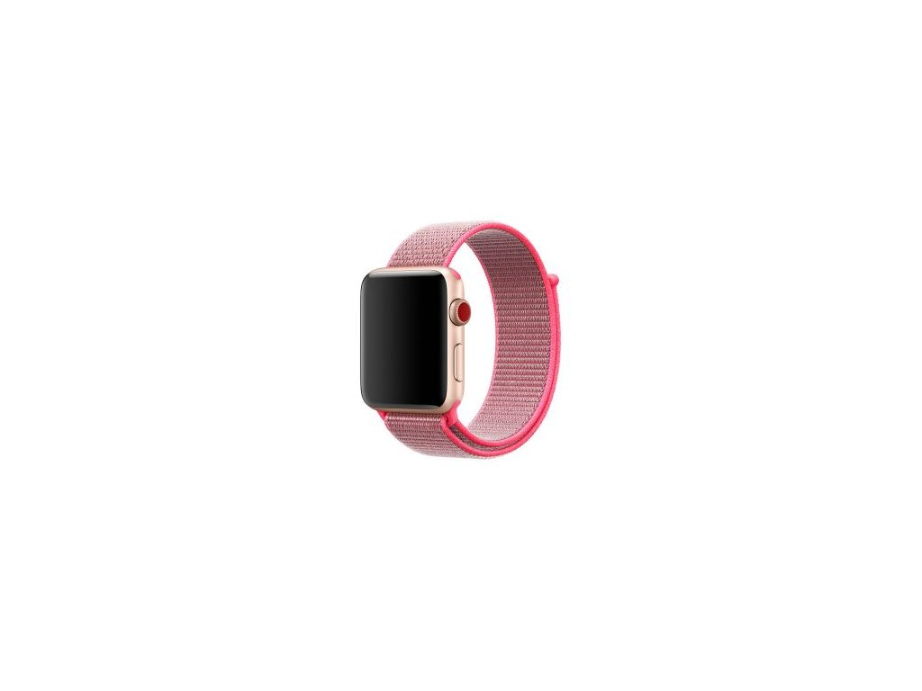 apple watch band nylon sport loop hot pink56525560158