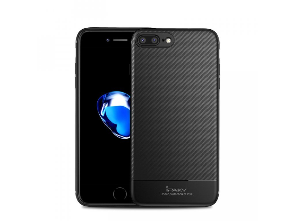 Obal iPaky iPhone 6/6S Plus - Carbon Fiber Series Černý