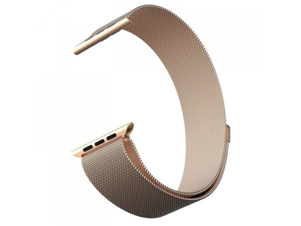 Milánský tah pro Apple Watch 38/40mm - METAL GOLD