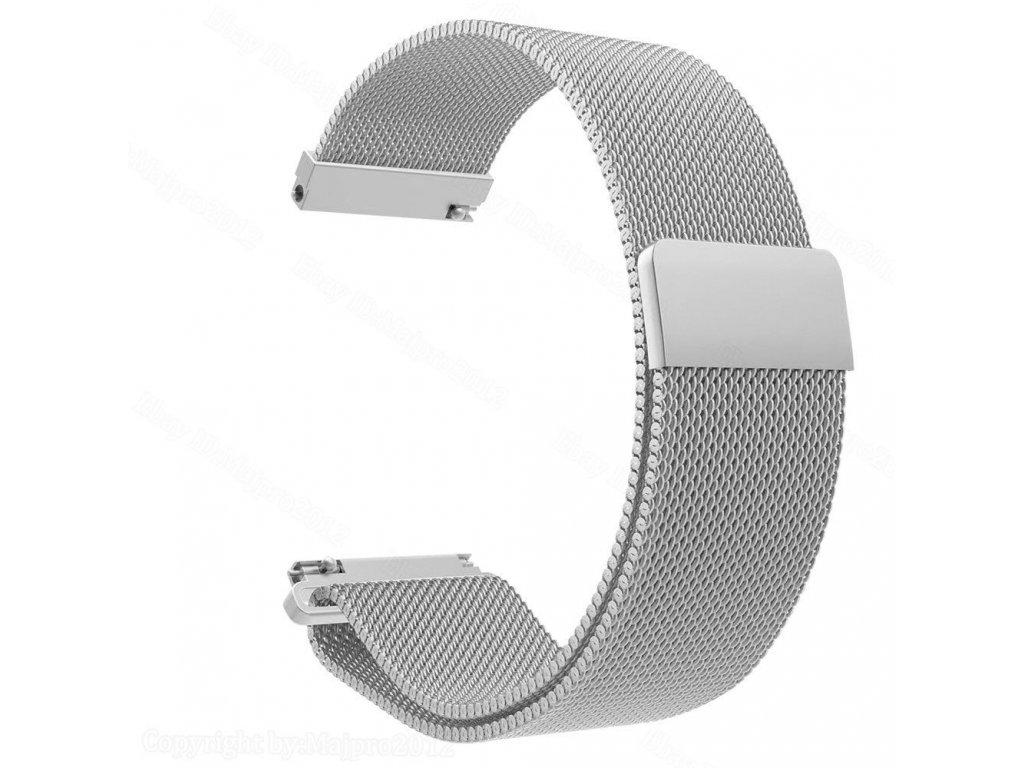 Apple Watch Milánský tah pro iWatch 38/40mm Metal Silver