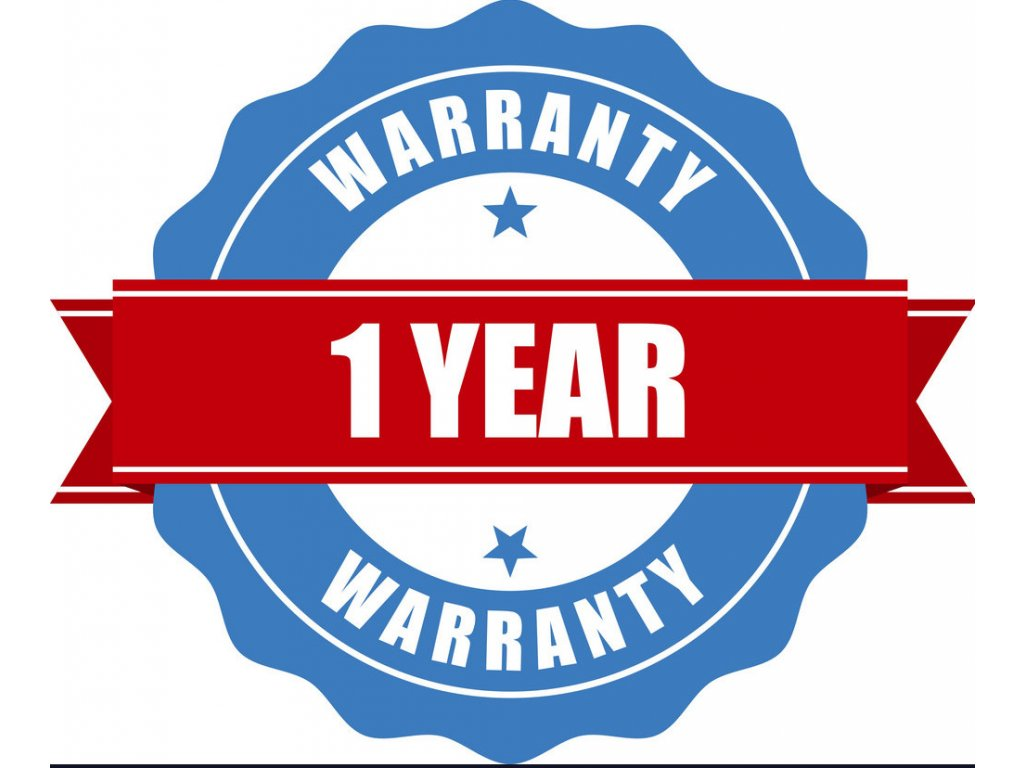 one year warranty seal round stamp vector 8941455