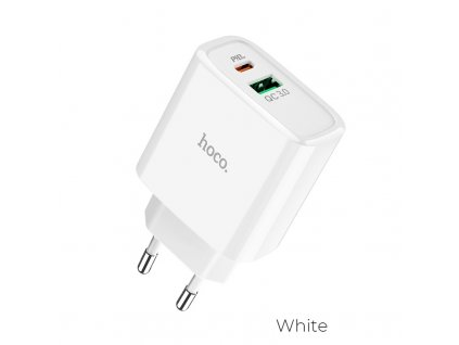 hoco c57a speed charger pd qc30 charger eu white