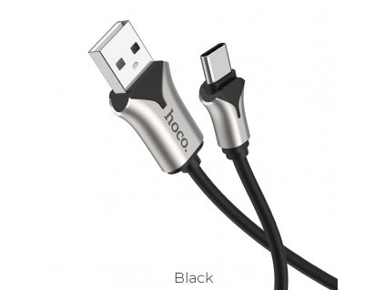 hoco u67 soft silicone charging data cable for type c black